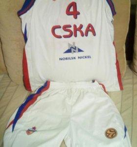 Баскетбольная форма ЦСКА
