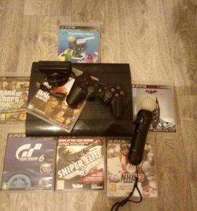 PlayStation 3(super slim),Playstation camera,move