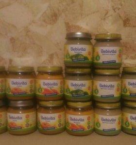 Детское овощное пюре Бебивита 15шт