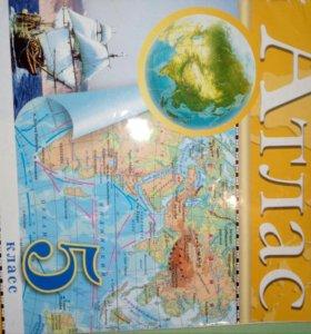 Атлас и контурная карта по географии 5 класс