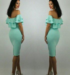 Платье  42, 44,46.Ткань барби, плотное, чуть стреч