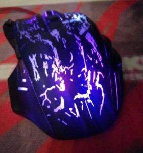 Мышь игровая 7 кнопок 12 цветов подсветкий