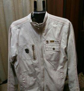Джинсовая курточка белая