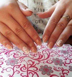 Наращивание ногтей покрытие гель лака