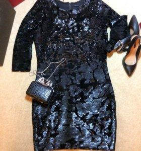 Платье вечернее в пайетках MOHITO