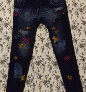 лосины-имитация джинс