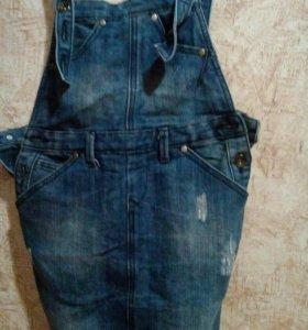 Комбезы джинсовые