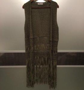 Жилетка с бахромой Zara Knit