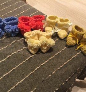 Новые Носочки, тапочки, пинетки для малышей