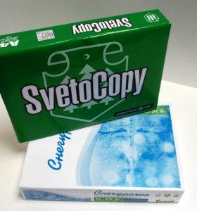 """Бумага """"SvetoCopy""""и""""Снегурочка"""" А4 для оргтехники."""
