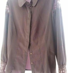 Нарядная блуза нежно сиреневого цвета р.48.-50