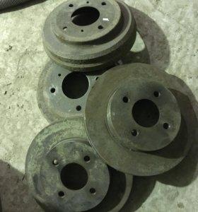 Новые тормозные диски на ниссан альмеру