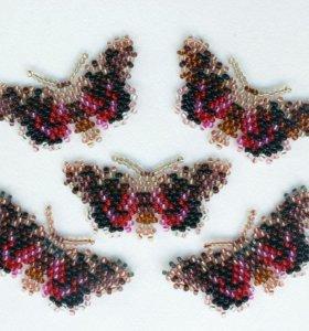 Бисерная заколка- бабочка.