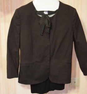 Чёрный пиджак жакет 44-46