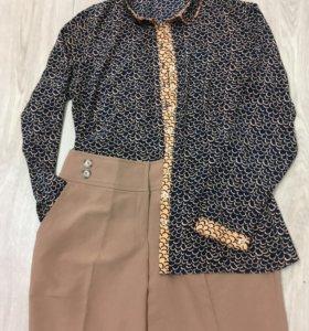 Шелковистая блузка L