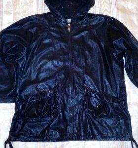 Женская лёгкая куртка (ветровка) с паетками, 52 р.