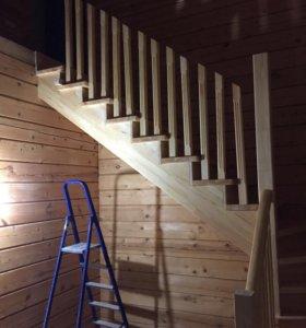 Производство лестниц, шлифовка полов