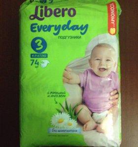 Подгузники Libero Everyday 3 размер (4-9 кг)