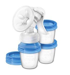 Молокоотсос и контейнеры для молока
