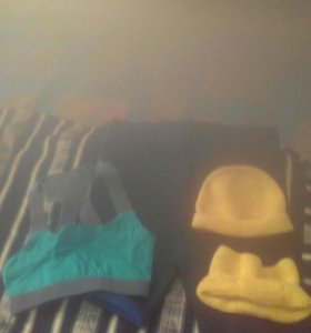Шорты, стрейч; шарфик;шапочка , топик,стрейч.