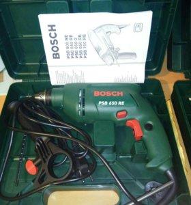 Дрель новая Bosch PSB 600 RE