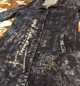Кардиган джинсовый