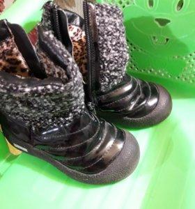 Зимняя обувь на девочку, размер 25-26