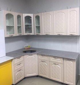 Кухня Хлоя 1,2*2,1 лён белый