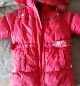 Куртка зимняя, новая на девочку 7-8 лет