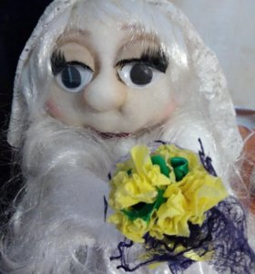 Кукла невеста ручной работы