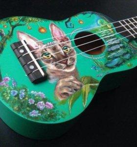Роспись гитар\рисую на гитарах