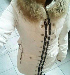 Плащ белый зимний
