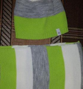 Комплект детский НОВЫЙ шапка+шарф