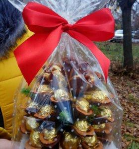 Шишки с конфетами на Новый год