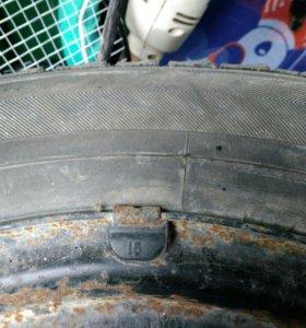 Колеса на дисках r15 с шинами r14