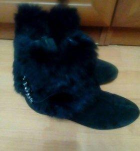 Ботинки зимние,полностью натуральные,покупали а тр