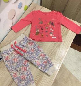 Кофта и брюки на девочку mothercare 6-9 мес