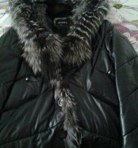 Куртка(пуховик) нат.кожа(зима)44-46р.
