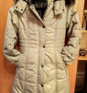 Пальто зимнее на девочку 8-10 лет