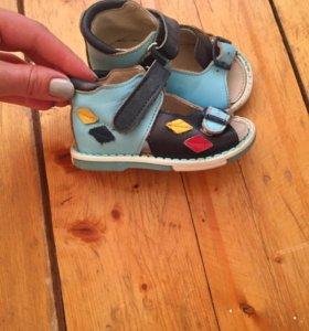 Ортопедические сандали, натуральная кожа .