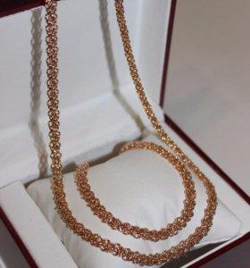 Цепочка + браслет из Дубайского золота