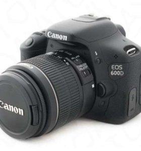 Canon 600D 18-55 (18мп,пробег 2800)