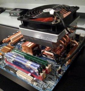 Материнская плата, процессор, опер. память, кулер.