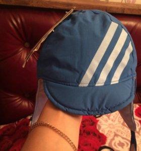 Новый фирменный набор Адидас шапка+варежки