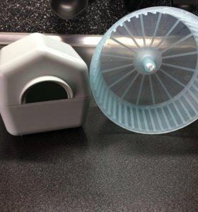 Домик и колесо для грызунов