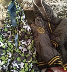 Куртка и ветровка 1/2 года и жилет