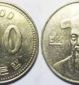100 вон Корея