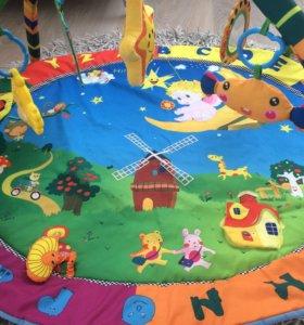 """Развивающий коврик для малышей """"Лесная полянка"""""""