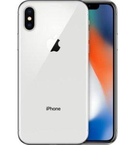 iPhone X 64 gb. РСТ НОВЫЙ + чехол
