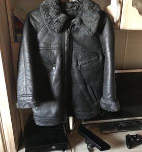 Зимняя куртка с натуральной кожей